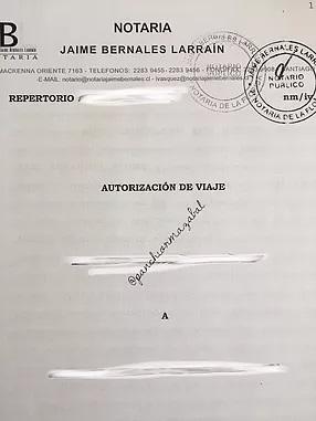 Autorización Notarial de Viajes. 2017