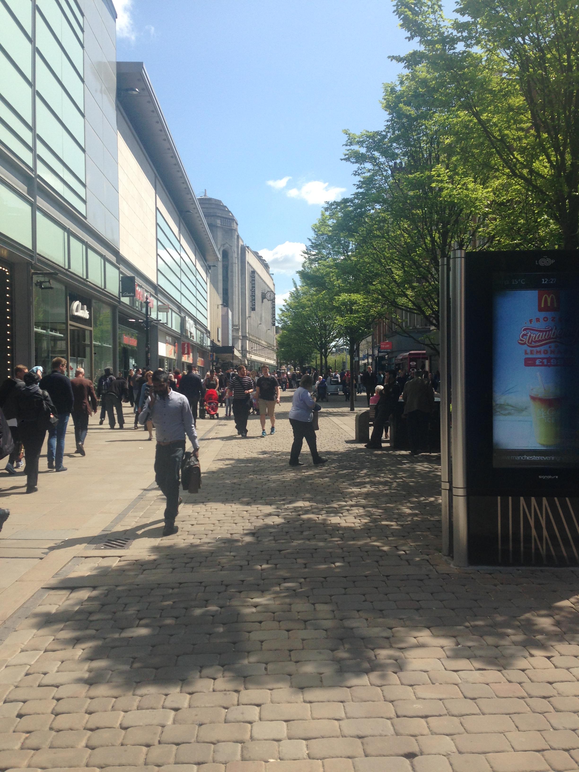 Market St., Manchester | Mi blog de aventuras | 2016