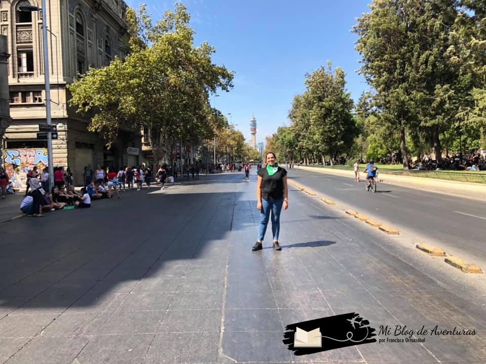 Marcha del Día de la Mujer en Santiago de Chile 2020