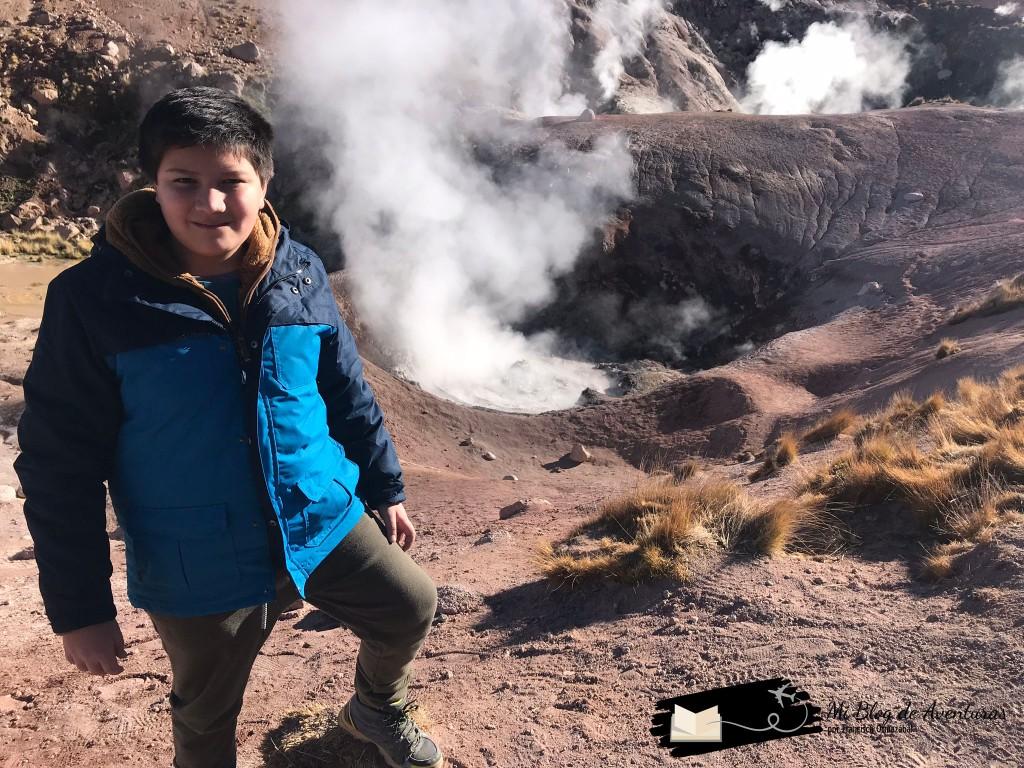 Geiser Rojo en San Pedro de Atacama Blog de Viajes Chile Viajar con Niños