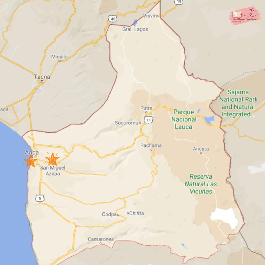 Viajar por la Región de Arica y Parinacota Chile